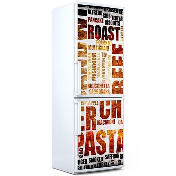 Stickers muraux: Cuisine typographique
