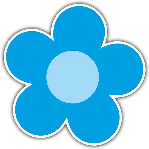Stickers muraux: Fleur bleue