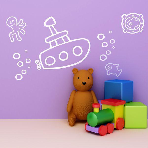 Stickers pour enfants: Submarino