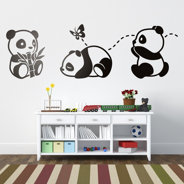 Stickers pour enfants: Les trois pandas