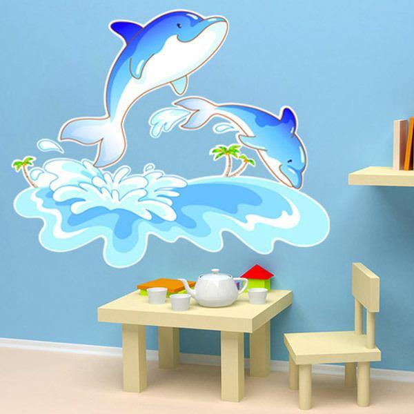 Stickers pour enfants: Dauphins