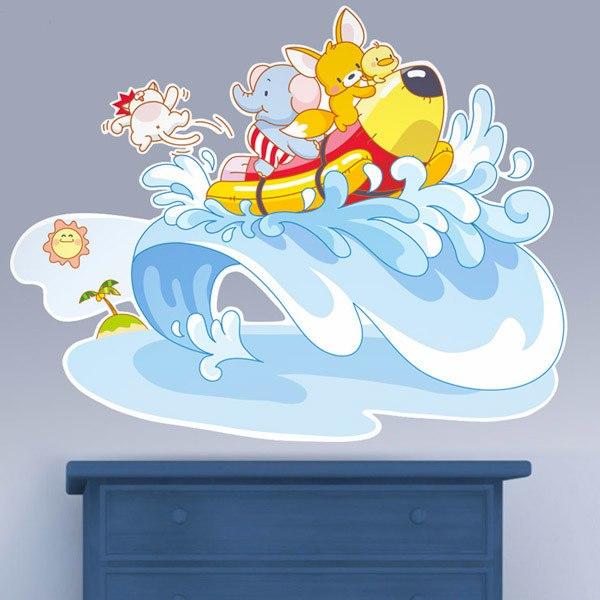 Stickers pour enfants: Animaux en mer