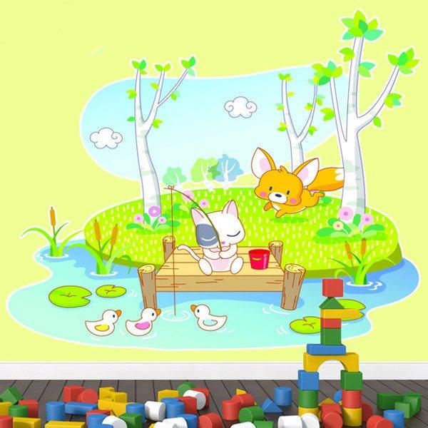 Stickers pour enfants: Animaux pêche