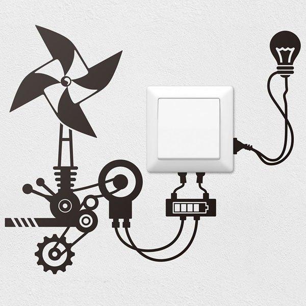 Stickers muraux: Moulin à vent