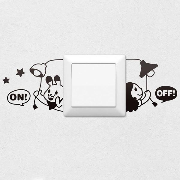 Stickers muraux: Allumer et éteindre