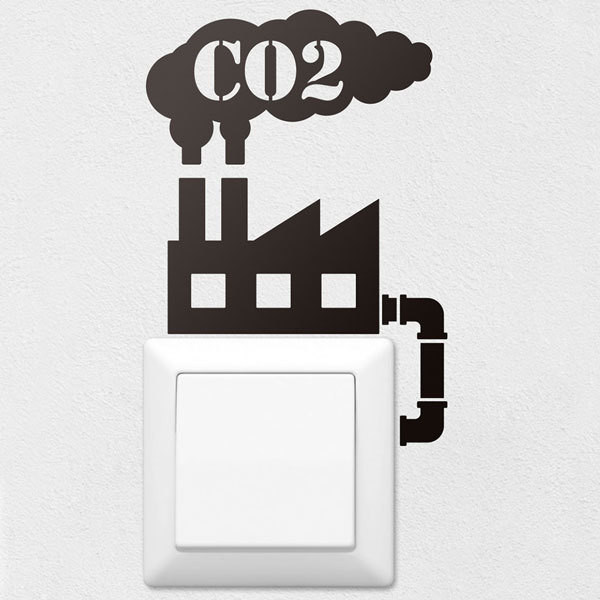 Stickers muraux: Usine CO2