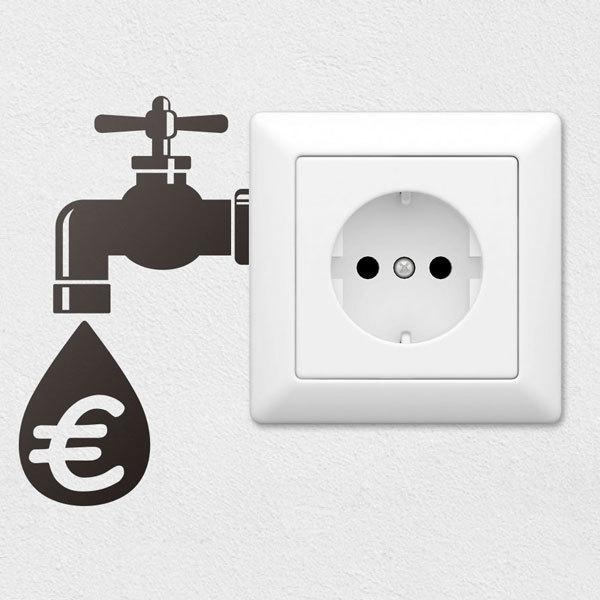 Stickers muraux: Robinet Économie