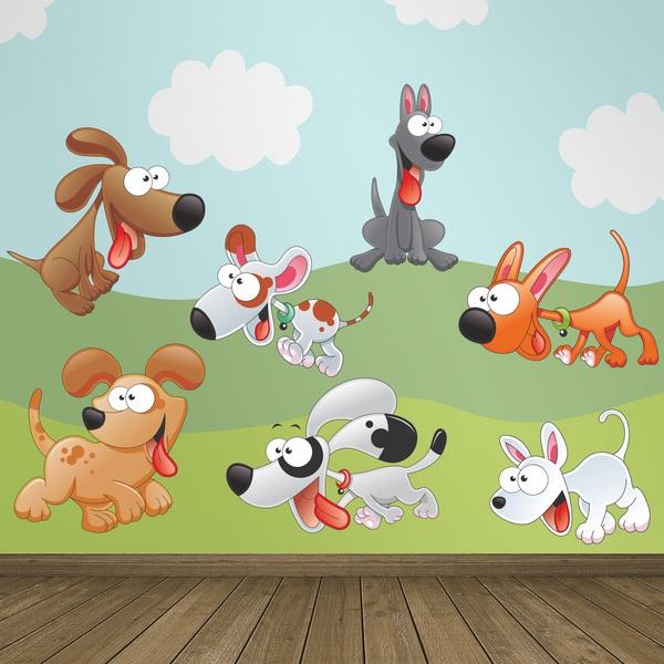 Stickers pour enfants: Kit 7 chiots