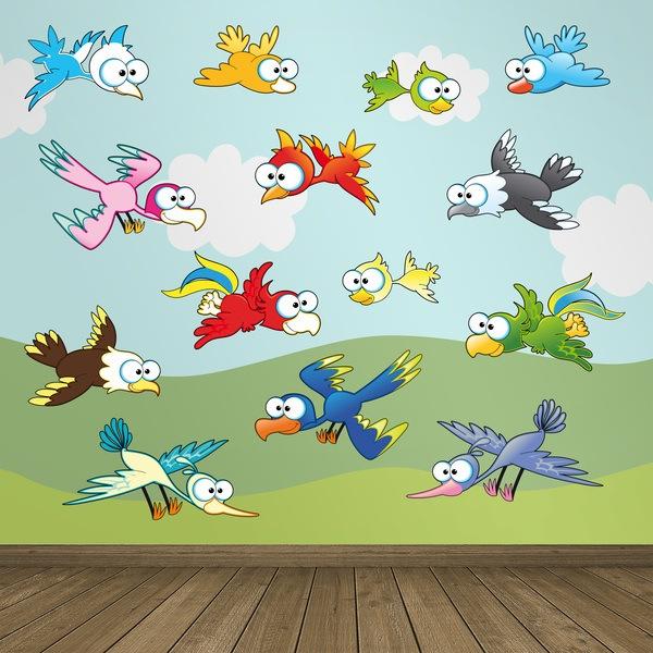 Stickers pour enfants: Oiseaux