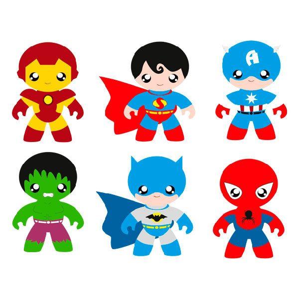 Stickers pour enfants heroes kit for Stickers de pared infantiles