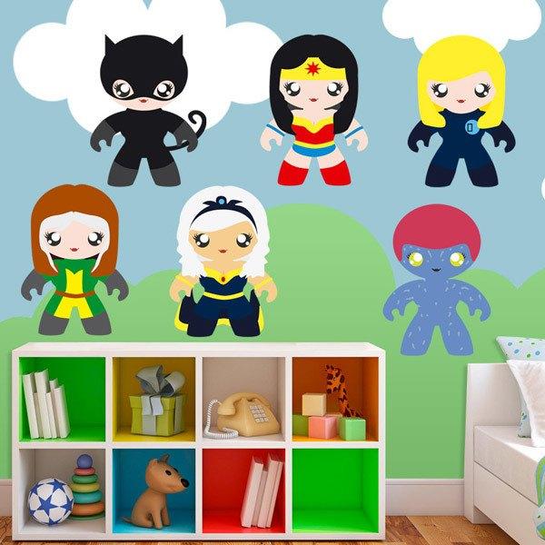 Stickers pour enfants: Héroïnes Kit
