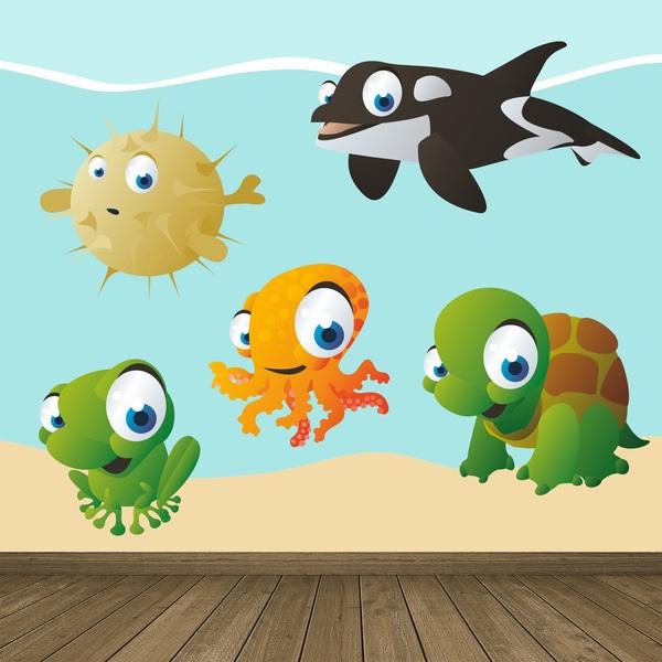 Stickers pour enfants: Aquarium 4