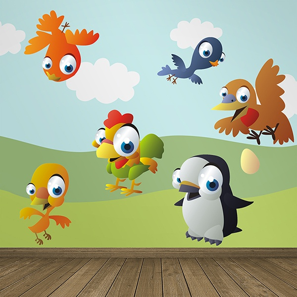Stickers pour enfants: Oiseaux 2