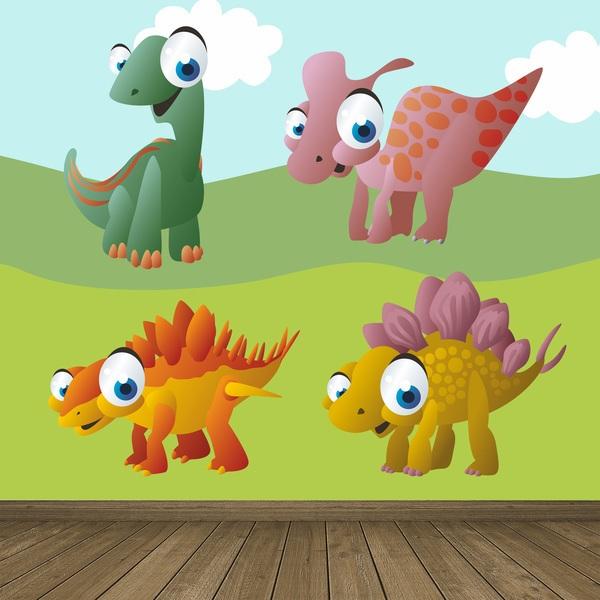 Stickers pour enfants: Dinosaurs 4