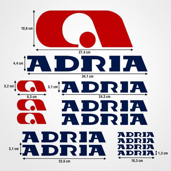 Autocollants: Kit Adria 2