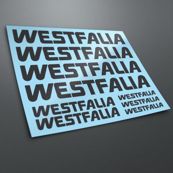 Autocollants: Kit Westfalia 1