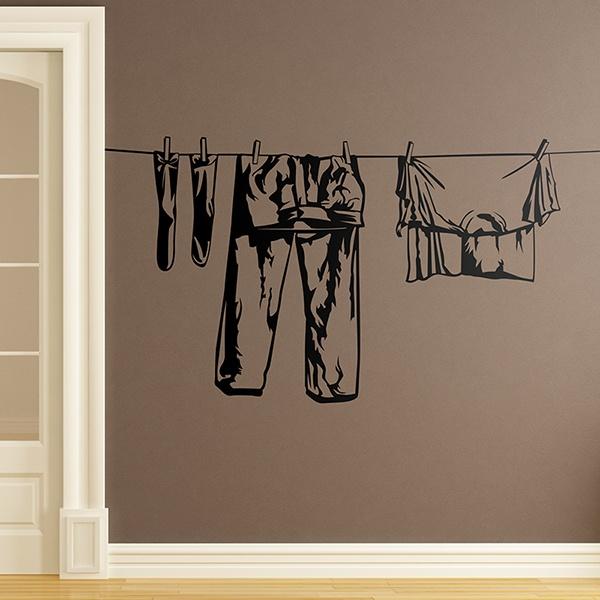 Stickers muraux: Vêtements suspendus