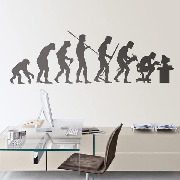 Stickers muraux: Evolution PC
