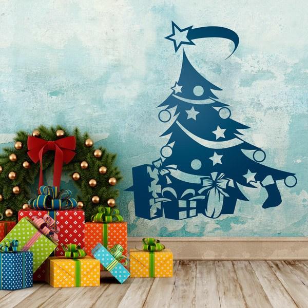 Stickers muraux: arbre de Noël