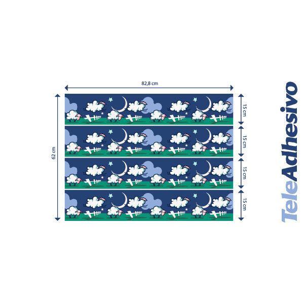 Stickers pour enfants: vordure moutons