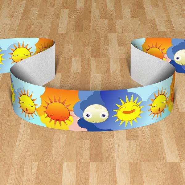 Stickers pour enfants: Cenefa soleils et de la lune