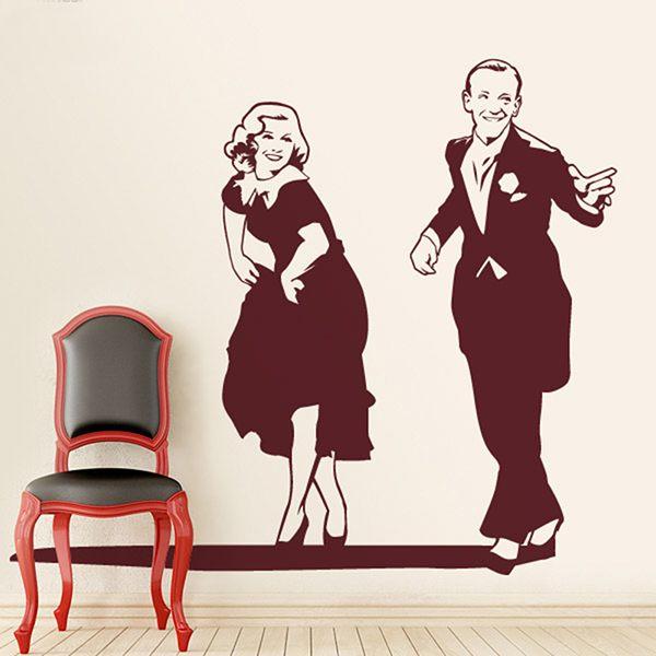 Stickers muraux: partenaire de danse