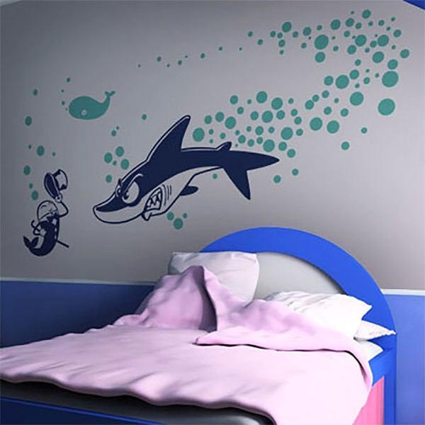 Stickers muraux: Shark attack