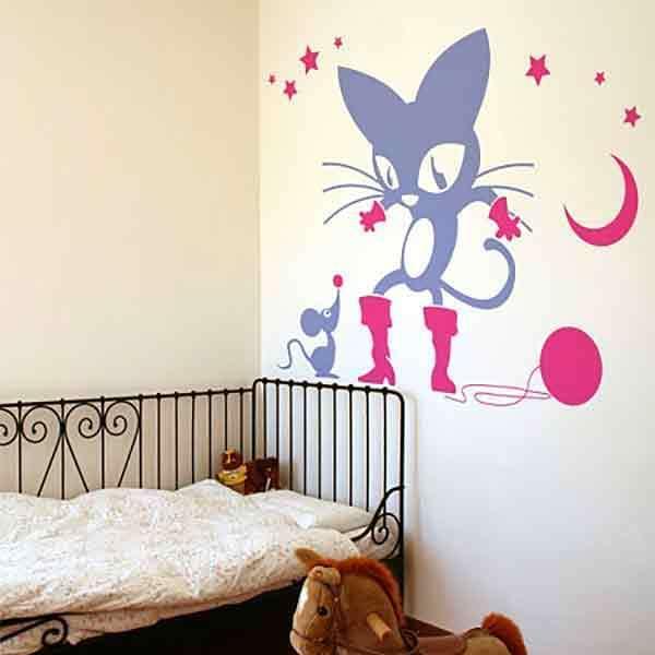 Stickers muraux: El gato con botas