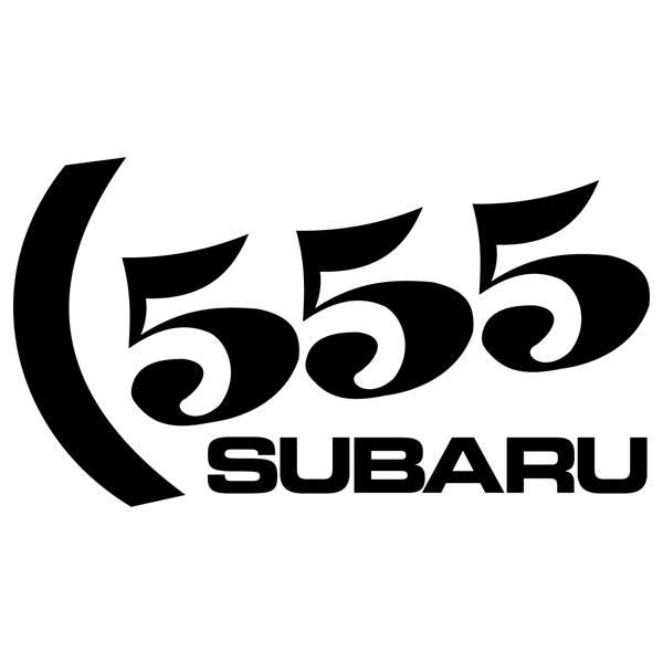 Autocollants: Subaru 555