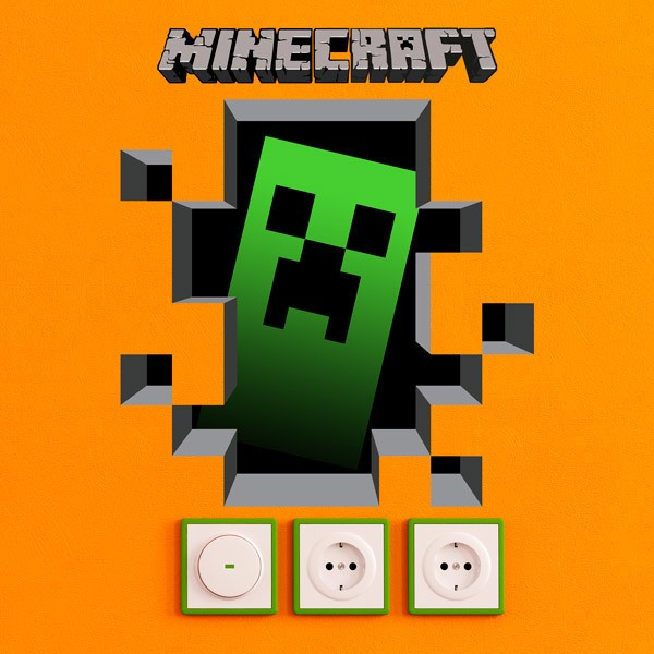 Stickers muraux: Minecraft 3D 1