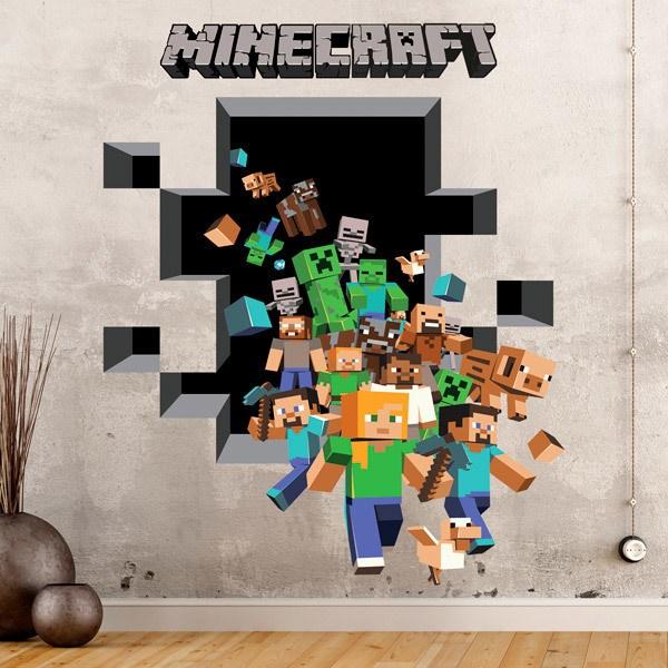 Stickers muraux: Minecraft 3D 2