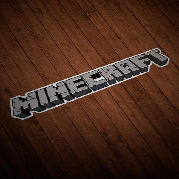 Stickers muraux: Sticker Minecraft courrier