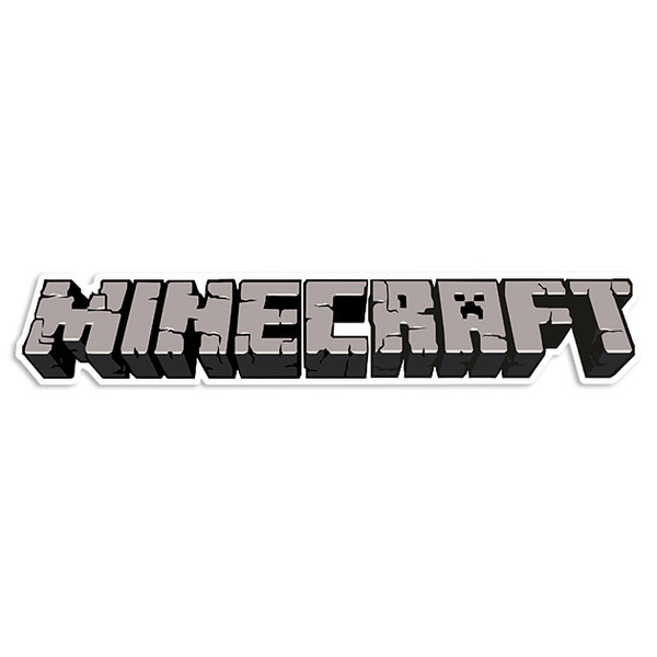 Stickers muraux: Sticker Minecraft courrier