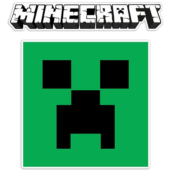Stickers muraux: Minecraft logo