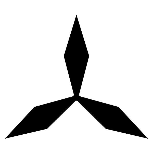Autocollants: Mitsubishi logo 3