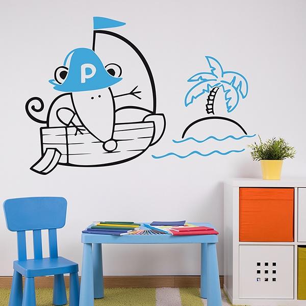 Stickers pour enfants: Multicoleur Pirate 1