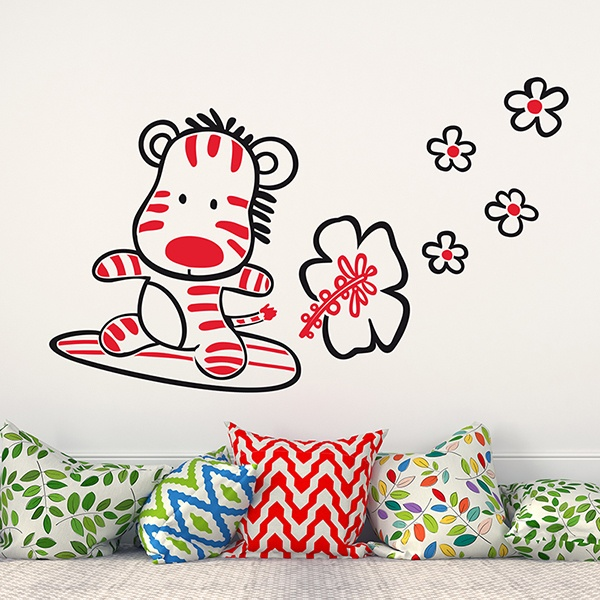 Stickers pour enfants: Surfer Multicoleur