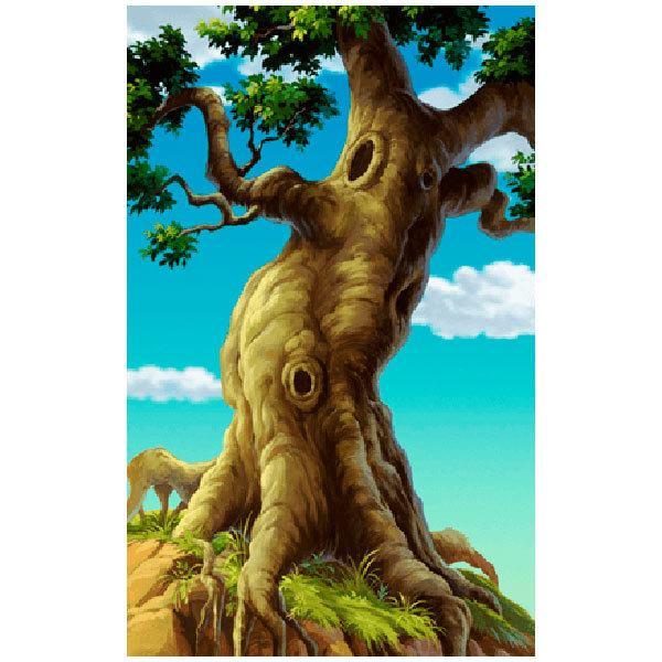 Stickers muraux: Grand arbre avec des racines