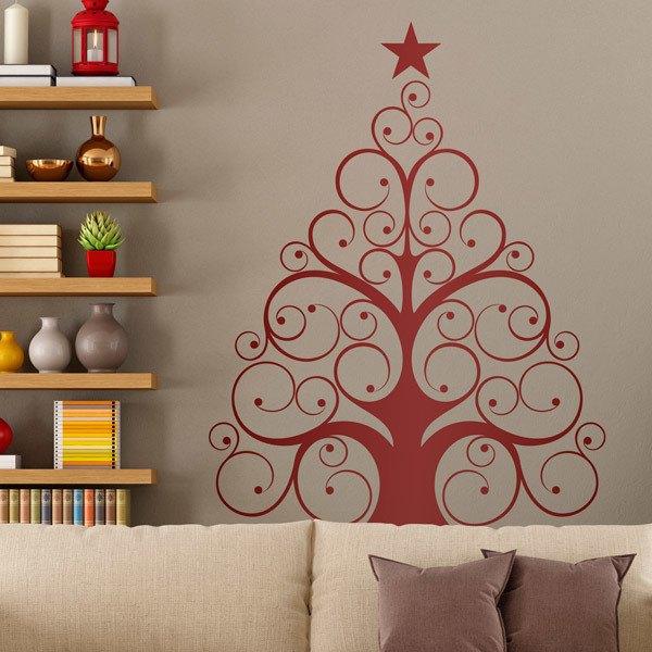 Stickers muraux: arbre moderne