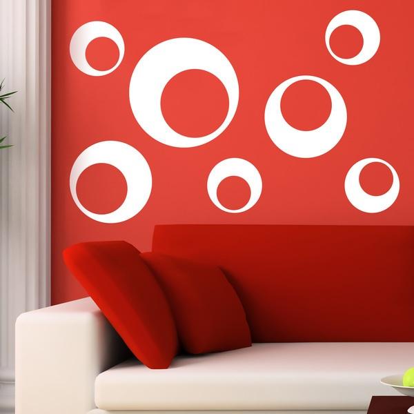 Stickers muraux: Kit 7 cercles