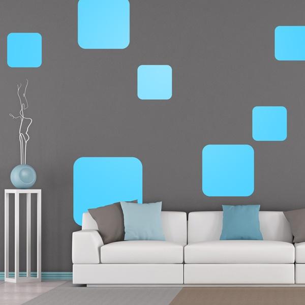Stickers muraux: Kit 7 carrés