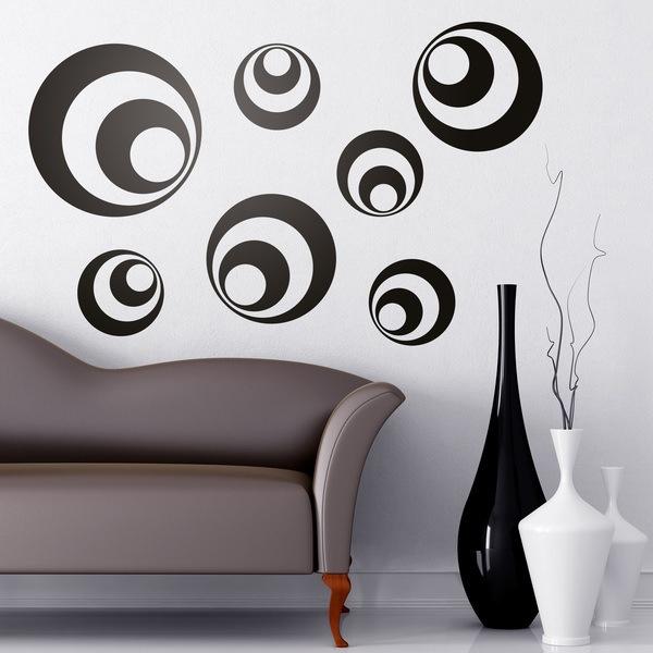 Stickers muraux: Kit 7 cercles B