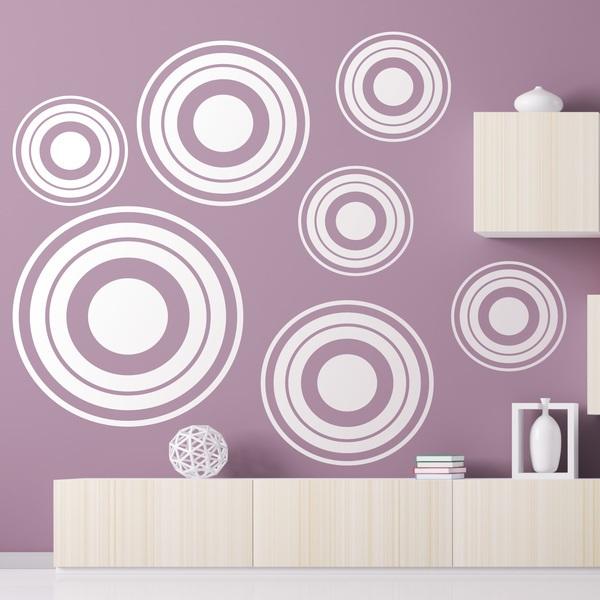 Stickers muraux: Kit 7 cercles C
