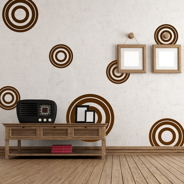 Stickers muraux: Kit 7 cercles E