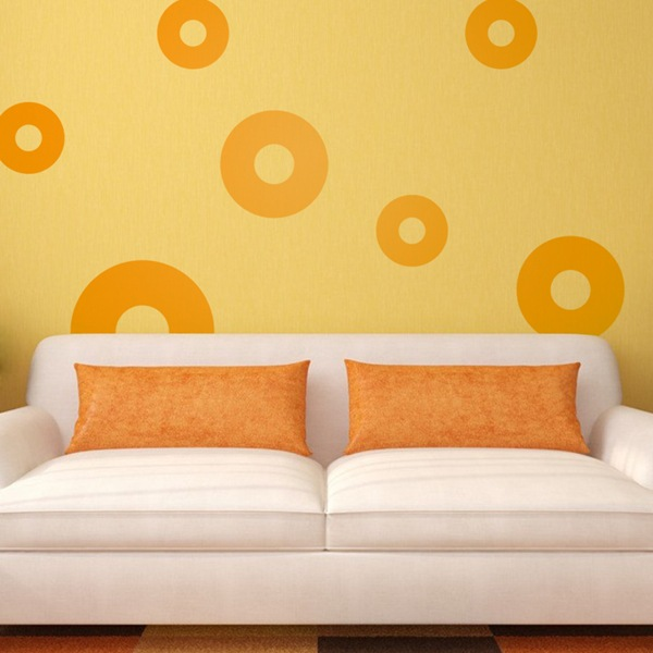Stickers muraux: Kit 7 cercles I