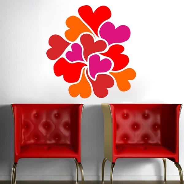 Stickers muraux: Cœurs
