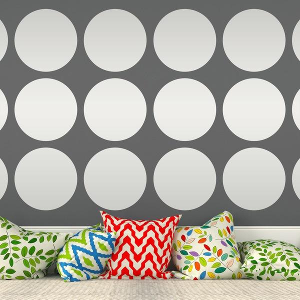 Stickers muraux: Set 9 cercles
