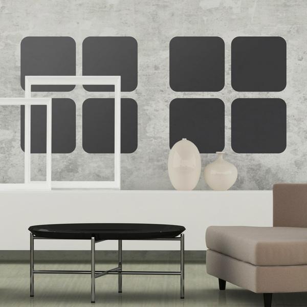 Stickers muraux: Kit 8 Carrés
