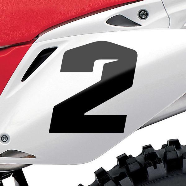 Autocollants: Nombre 2 Speed