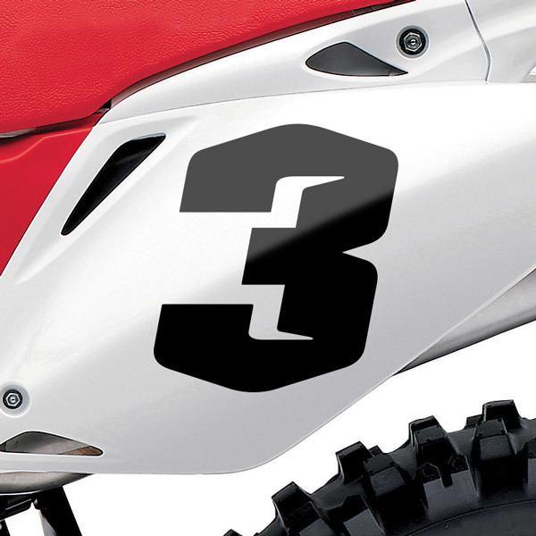Autocollants: Nombre 3 Speed